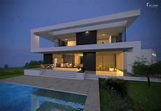 Modernes Einfamilienhaus Im Bauhausstil Mit Flachdach 2