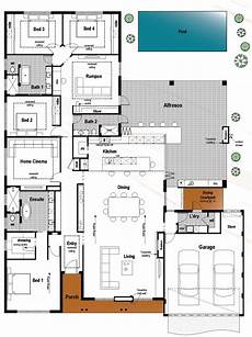 modern four bedroom house plans floor plan friday 4 bedroom 3 bathroom with modern