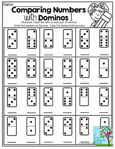 domino subtraction worksheets for kindergarten 10504 comparing numbers count the dots on the domino write the number color the domino that has