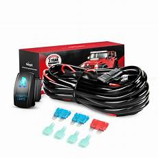 nilight 16awg wiring harness kit 12v with 5pin laser off sasquatch nilight led light