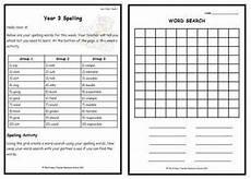 spelling worksheets year 3 22538 year 3 weekly spelling pack 1