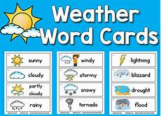 weather words worksheets 14703 weather picture word cards prekinders