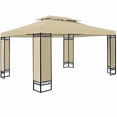 Pavillon 4x4 Meter - pawilon 3x4 namiot ogrodowy stelaż metal kremowy kremowy