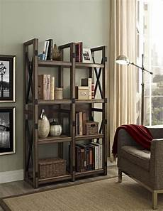 Dorel Wildwood Rustic Gray Bookcase Room Divider
