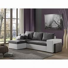 canape gris blanc canap 233 d angle r 233 versible simili blanc tissu gris 4 places