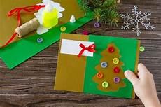 weihnachtskarten mit kindern basteln einfach 10 ideen