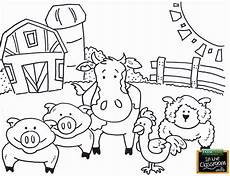 barnyard animal coloring pages in 2020 farm animal