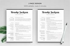 professional resume template quot quot bonus modern cv