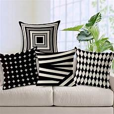 Decorative Cushions For Sofa by Aliexpress Buy Decorative Throw Pillows Black