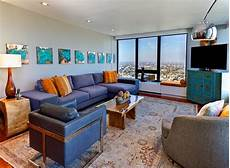 15 stunning living room designs with brown blue and orange accents home design lover