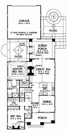 narrow lot house plans with rear garage in 2019