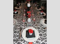 A Farewell Dinner Party {Black, White & Red