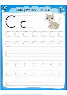 letter c handwriting worksheets 24055 letter c is for cat handwriting practice worksheet free printable puzzle