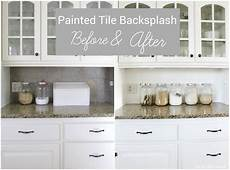 Painting Kitchen Tile Backsplash I Painted Our Kitchen Tile Backsplash The Wicker House