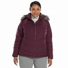 columbia womens hooded puffer winter snow jacket coat