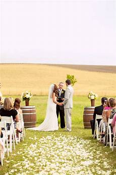 home field wedding wedding wedding ceremony flowers
