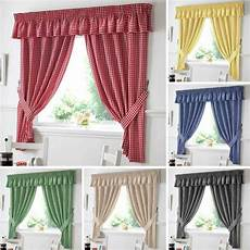Kitchen Curtains In by Gingham Check Kitchen Curtains Ready Made Curtain Pairs