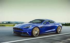Blue Aston Martin Vanquish On Wallpapers