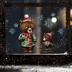 fensterbild weihnachtsdeko weihnachten b 228 r papab 228 r baby