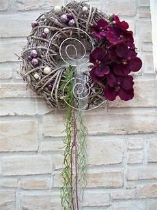 Türkranz Weihnachten Modern - t 252 rkr 228 nze t 252 rkranz mit orchidee und perlen wei 223 lila