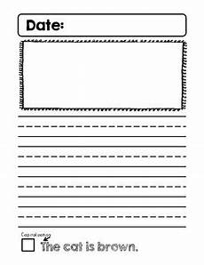 cute kindergarten journal writing pages with good writing checklist