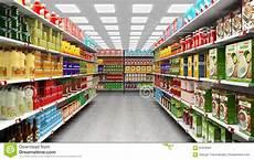 scaffali supermercato interno supermercato con gli scaffali pieni