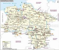 Landkarte Niedersachsen Karte Niedersachsen