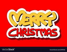 merry christmas logo royalty free vector image