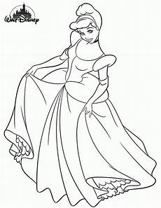 disney princess cinderella colouring pages for print