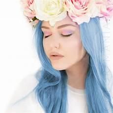 coloration cheveux bleu coloration cheveux bleu ciel blue manic panic