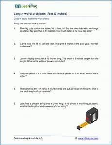 measurement word problems worksheets 4th grade 1975 grade 4 length word problem worksheets k5 learning