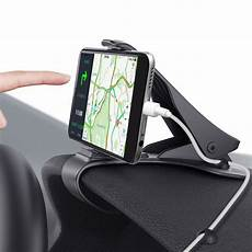 support smartphone auto adjustable car phone holder easy clip mount stand gps
