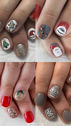 10 christmas nail art designs april golightly