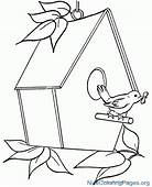 Birdhouse Clipart Black And White