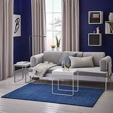 Langsted Tapis Poils Ras Bleu Fonc 233 Ikea