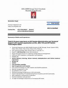 resume shortlisted email from hcl aix administator resume