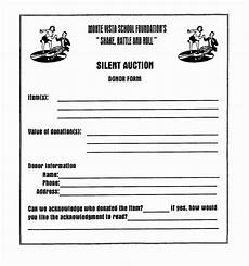 template for silent auction donation form silent auction donation form template sletemplatess