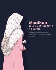 Gambar Kata Kata Muslimah Sholehah Jatuh Cinta Kartun
