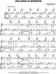 marc cohn quot walking in memphis quot sheet music in c major transposable download print sku