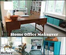 another home office makeover green and blue