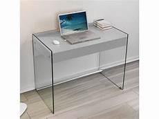 bureau tokio 1 tiroir gris pi 233 tement en verre 20100853488