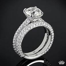 rounded pave diamond wedding 2393