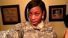 military hairstyle options for afro amer females youtube