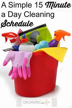 15 minute a day cleaning schedule