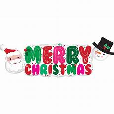 merry christmas banner supershape balloon