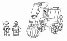 Ausmalbilder Lego Bagger Lego City Ausmalbilder 60075 Bagger Und Transportwagen