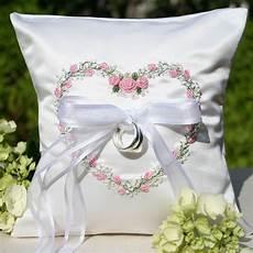garden floral heart wedding ring pillow pink ring pillow