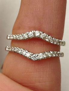 new solitaire enhancer diamonds ring guard wrap 14k white gold wedding band ebay