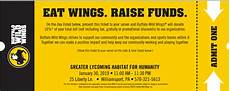 Bw Ticket - bww ticket 1 30 greater lycoming habitat for humanity