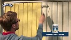 verzinktes metall lackieren hammerite direkt auf zink